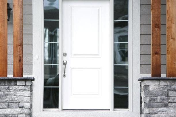 正门,正面视角,新的,门口,郊区,家庭生活,石材,安全,居住区,现代