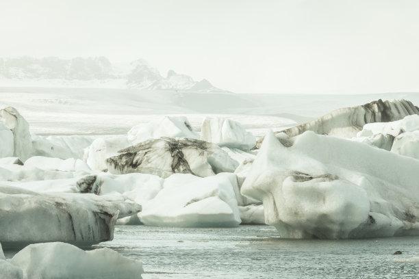 杰古沙龙湖,冰岛国,冰川泻湖,冰山,水,气候,湖,冬天,著名景点,风景