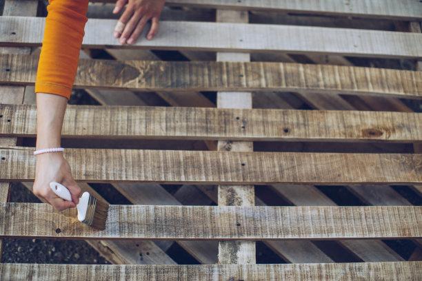 漆的,木制,忙碌,努力,画笔,仅成年人,建筑业,青年人,工艺品,木工
