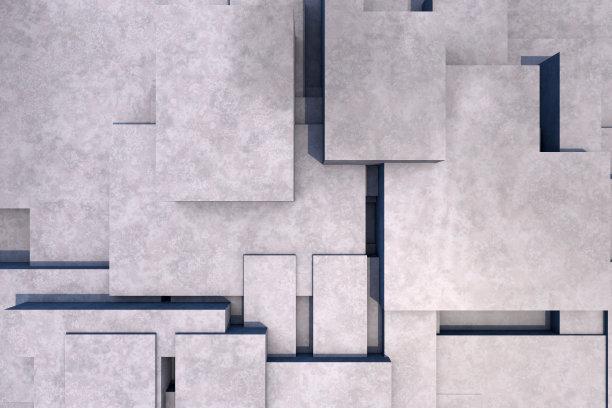 几何形状,抽象,混凝土,背景,建筑结构,留白,未来,艺术,水平画幅,纹理效果