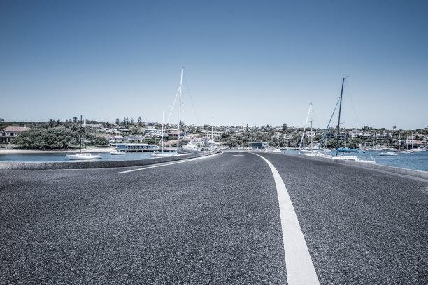 有帆船,海洋,空的路,悉尼港湾,大量人群,水,天空,新南威尔士,水平画幅,无人
