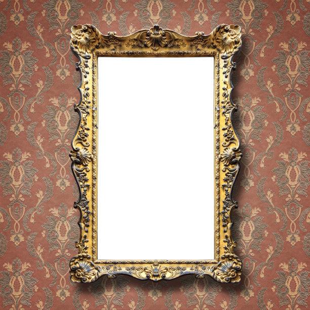 相框,华丽的,全部,留白,壁纸样本,古典式,长方形,乡村风格,白色