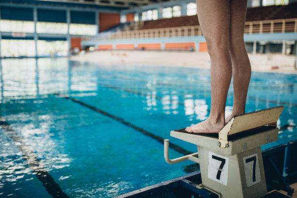 游泳池,水,青少年,男性,青年人,运动,清新,人类肌肉,起跑线
