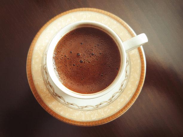 杯,土耳其清咖啡,烤咖啡豆,留白,咖啡店,水平画幅,无人,工间休息,正上方视角,早晨