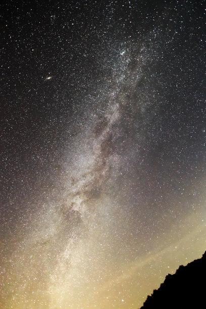 星系,仙女座星系,垂直画幅,星星,夜晚,长野县,无人,日本,银河系,摄影