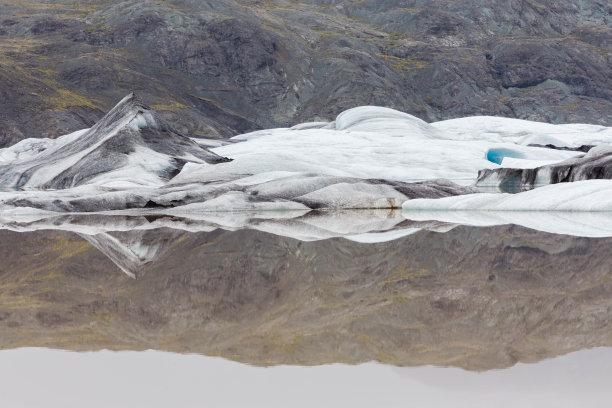 冰河湾,水,天空,雪,湖,冰岛国,山脊,白色,风景,戏剧性的天空