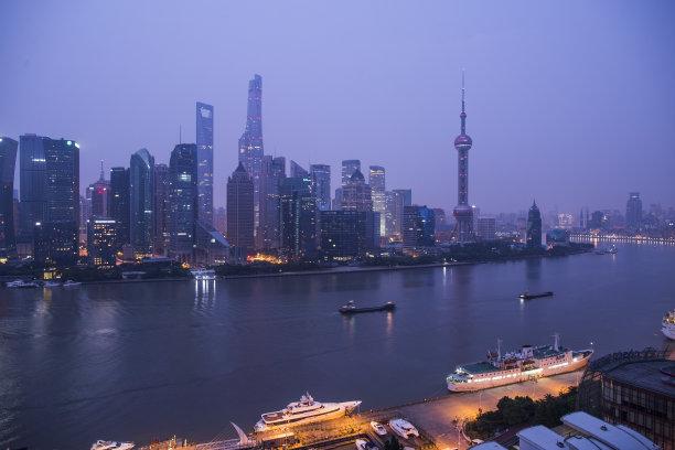 夜晚,上海,天空,未来,浦东,金茂大厦,都市风景,现代,国际著名景点,东方明珠塔