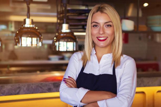 女招待,餐馆,美,拉美人和西班牙裔人,业主,咖啡店,水平画幅,美人,商店,新创企业