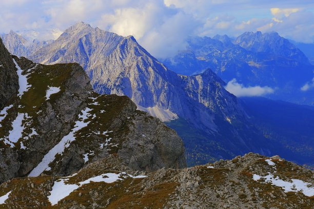 Above Mittenwald – Karwendel dramatic landscape in Bavarian alps, Germany