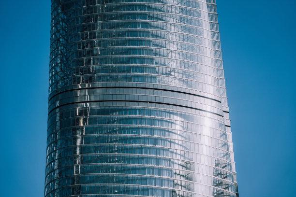 上海中心大厦,玻璃,钢铁,天空,水平画幅,云,无人,东亚,户外,浦东