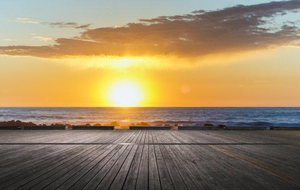 加利福尼亚,太平洋,在上面,水,天空,美,水平画幅,无人,曙暮光,观测点