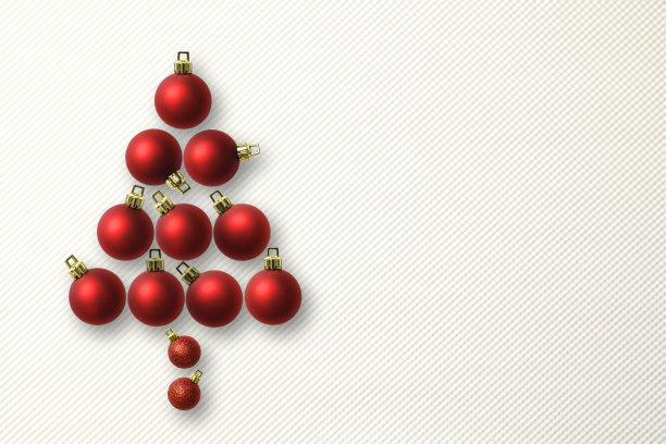 留白,圣诞树,球体,红色,垂直画幅,贺卡,圣诞卡,水平画幅,形状