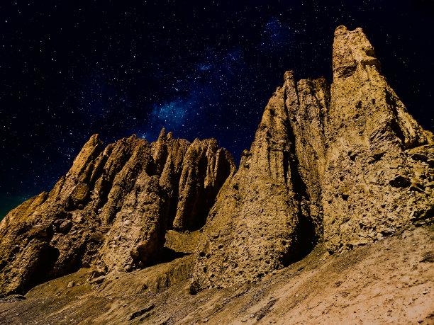 地形,夜晚,季节