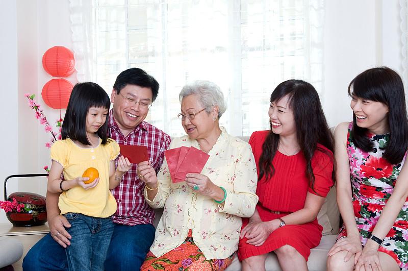 春节,家庭,全家福,中国人,美,多代家庭,水平画幅,美人,马来西亚人,男性