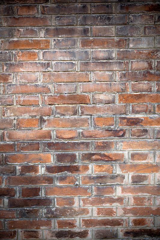 纹理效果,无人,砖墙,式样,背景,垂直画幅,留白,褐色,风化的,墙