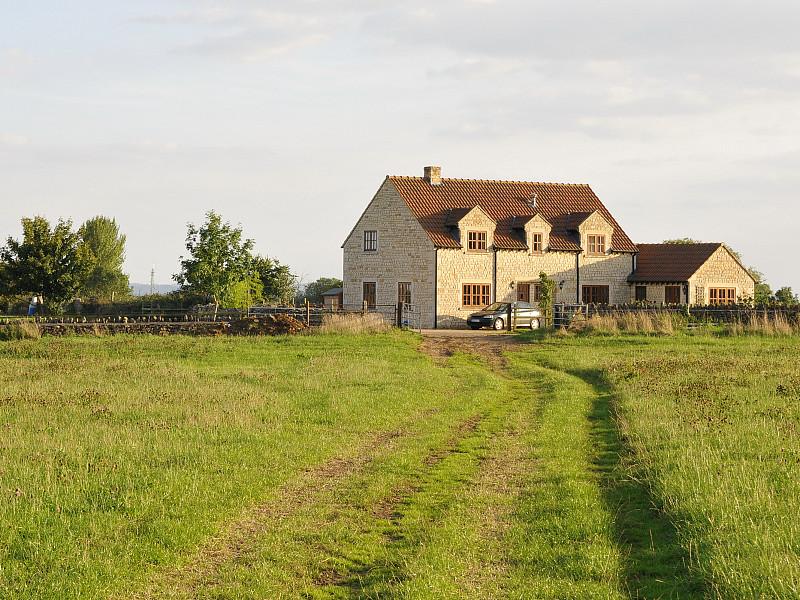 农舍,田地,绿色,前面,互联网,风景,田园风光,小别墅,豪宅,农场