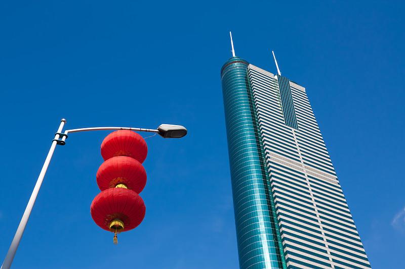 灯笼,建筑外部,深圳,天空,顶部,现代,高处,彩色图片,著名景点,街道
