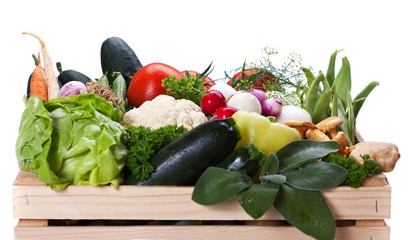 蔬菜,盒子,鸡油菌,胡萝卜,水平画幅,灯笼椒,无人,板条箱,食用菌,莴苣
