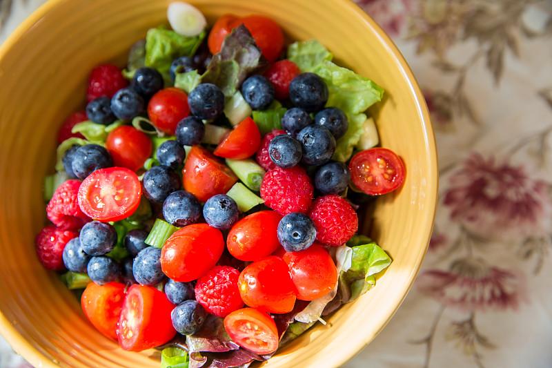 沙拉,健康食物,果盘,主菜盘,葱,水平画幅,高视角,无人,图像,西红柿