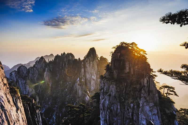 黄山山脉,安徽省,自然,国家公园,水平画幅,无人,户外,自然美,冬天,中国