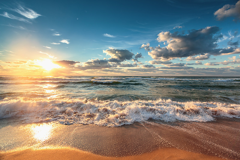 云景,海洋,自然美,在上面,水,天空,美,水平画幅,无人,早晨