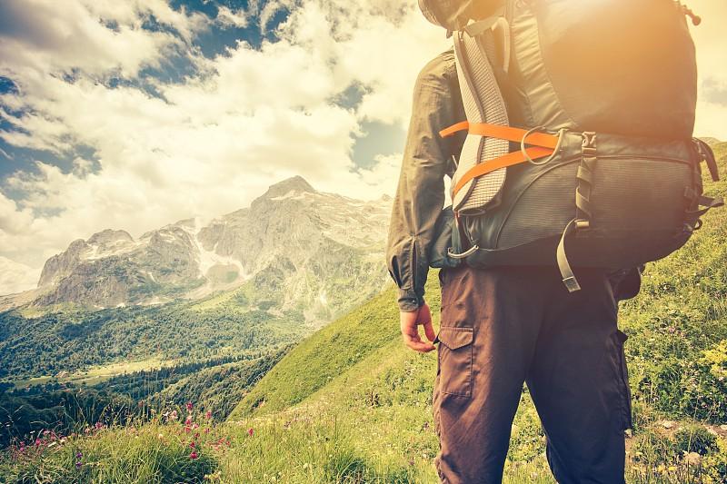 背包,健康生活方式,概念,男人,探险家,极限运动,土路,旅行者,徒步旅行,寂寞
