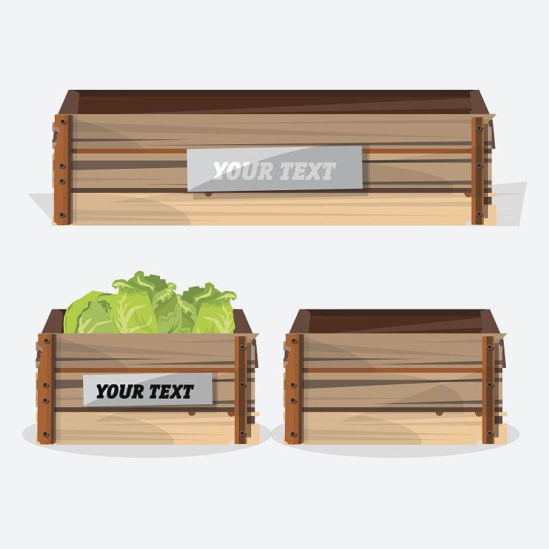 木制,矢量,板条箱,绘画插图,农业,计划书,厚木板,园林,水果,园艺