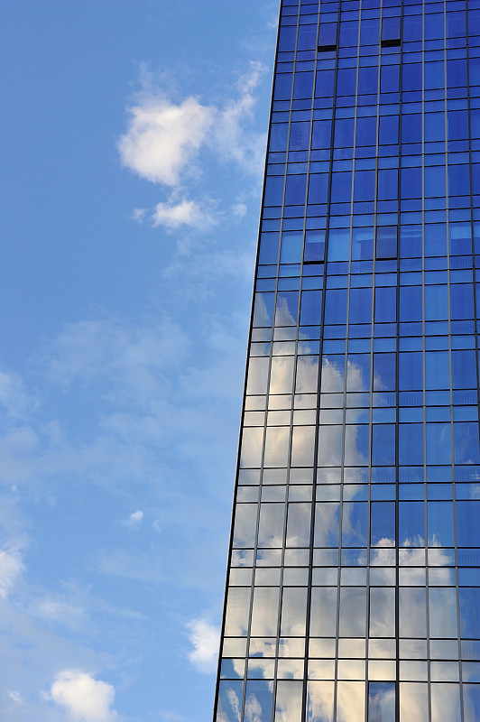 玻璃,幕墙,垂直画幅,天空,未来,新的,明亮,都市风景,现代,建筑业