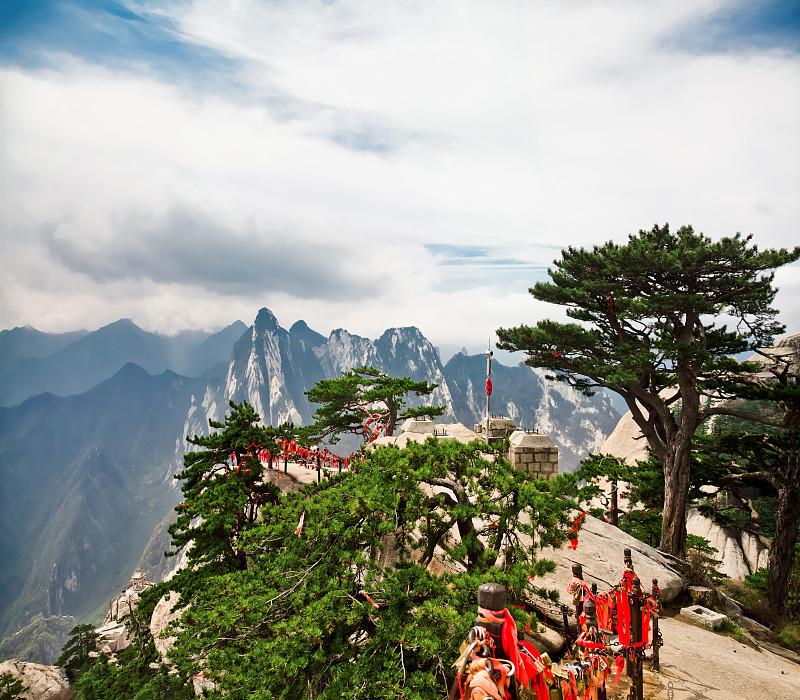 陕西省,山,中国,华山,道教,中国中东部,灵性,无人,当地著名景点,东亚