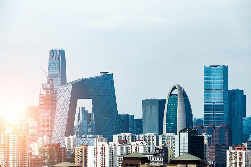 北京,中央电视塔,中央电视台总部大楼,都市风景,白昼,建筑外部,市区,高架道路,现代,建筑