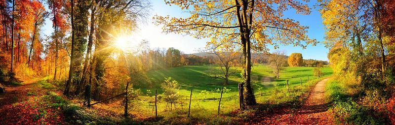 地形,秋天,全景,自然美,天空,美,水平画幅,山,无人,户外