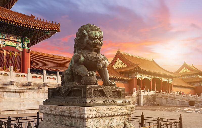 北京,故宫,远古的,寺庙,清朝,禁止的,过去,宫殿,旅游目的地,亭台楼阁