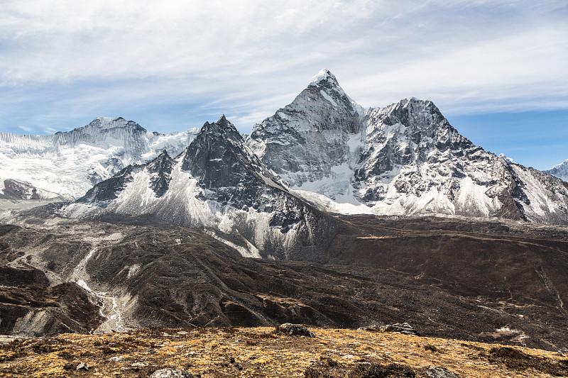 喜马拉雅山脉,尼泊尔,努子峰,昆布地区,珠峰大本营,山,雪山,山谷,极端地形