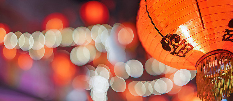 春节,灯笼,新的,夜晚,旅行者,马来西亚,悬挂的,光,街道