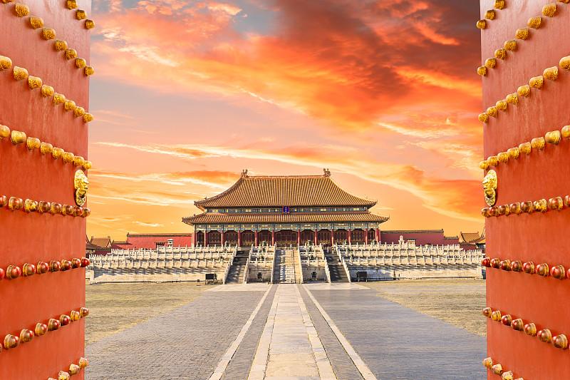 故宫,北京,寺庙,宫殿,传统,世界遗产,禁止的,远古的,大门,著名景点