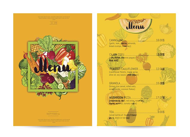 素食,菜单,食品,计划书,餐馆,目录,负责任的企业,价格标签,贺卡,食品杂货