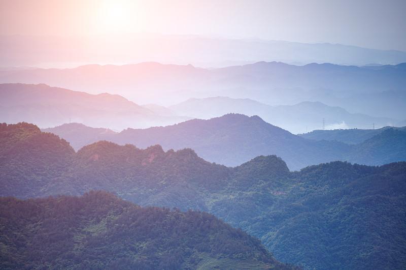 武当山,山脊,极端地形,山脉,地平面,野生植物,宁静,杉树,地平线,松科