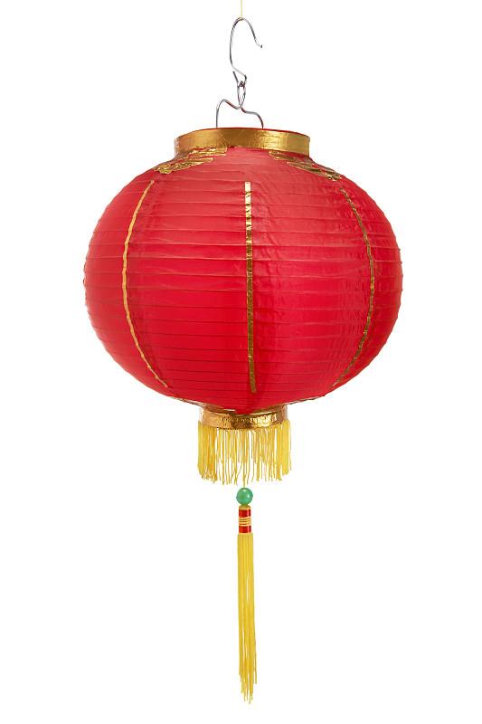 红色,白色,分离着色,中国灯笼,纸灯笼,灯笼,马来西亚,传统,垂直画幅,背景分离