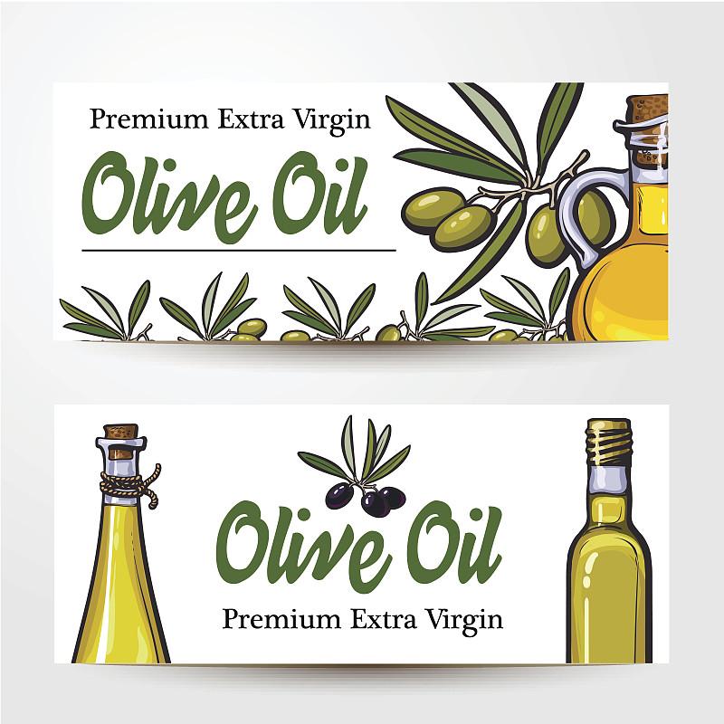 瓶子,橄榄,枝,食用油,文字,绘画插图,素食,古典式