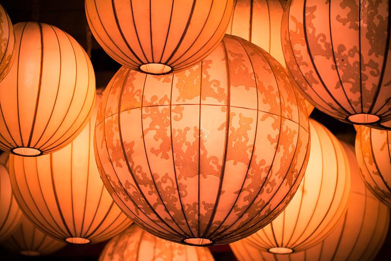 灯笼,红色,斯洛伐克,大量物体,中国元宵节,传统节日,中国灯笼,灯,闪亮的,特写