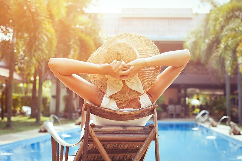夏天,旅游目的地,水,休闲活动,健康,棕榈树,仅成年人,青年人,海滩,热带气候