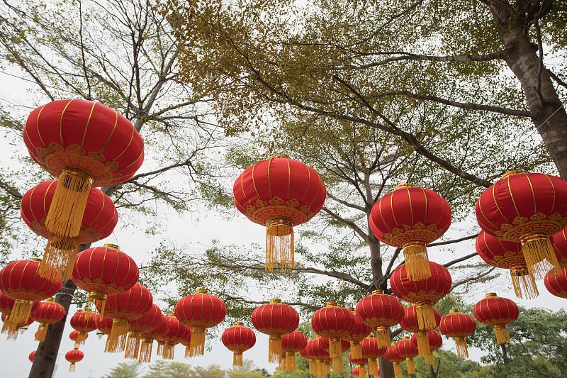 灯笼,公园,春节,红色,广东省,中国元宵节,深圳,中国灯笼,圣诞装饰,月亮