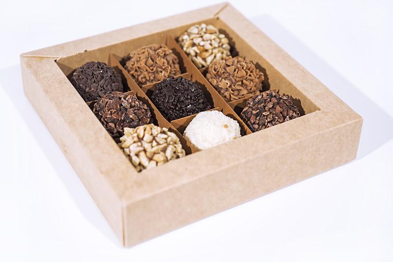球,坚果,糖果,可爱的,巧克力,褐色,水平画幅,情人节,烘焙糕点,特写