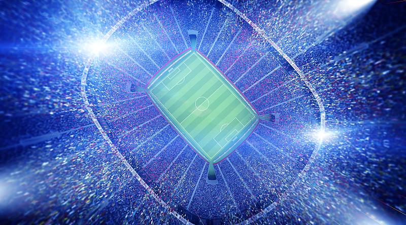 体育场,天空,爱好者,水平画幅,夜晚,光,草,现代,田地,运动