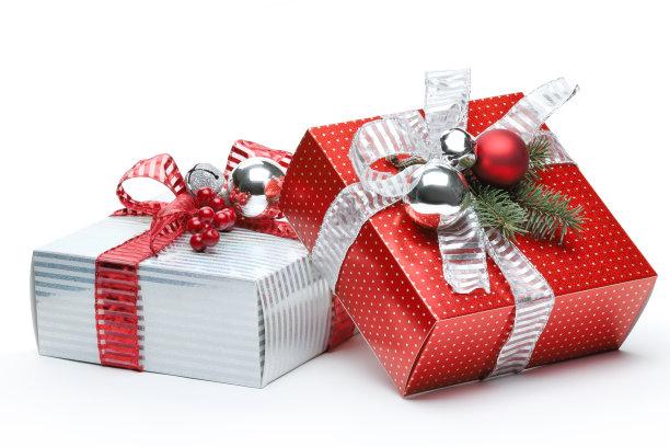 红白包装圣诞节礼物
