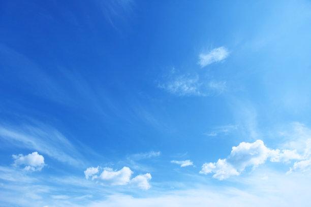蓝色晴朗天空