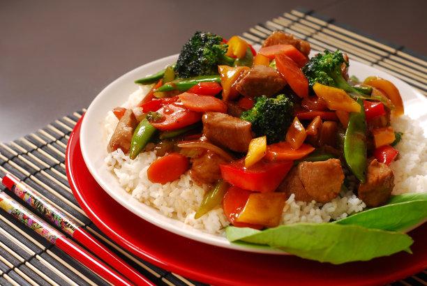 蔬菜盘子猪肉
