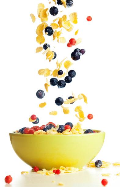 碗玉米片图片