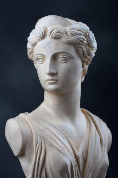 月亮女神阿蒂米斯胸像石材