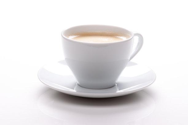 白色咖啡杯